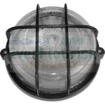 Hajólámpa  Léna kerek fekete 100W E27 műanyag rácsos Ip44