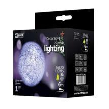 Emos karácsonyi dekoráció gömbfüzér 16 LED 3m IP20 hideg fehér ZY1401