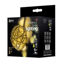 Emos karácsonyi dekoráció gömbfüzér 16 LED 3m IP20 meleg fehér ZY1402