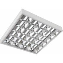 LEDre előkészített armatúra dupla parabola tükrös 4xT8 LED/60 cm falon kívüli / 4x18W - fénycsöves kiváltására/