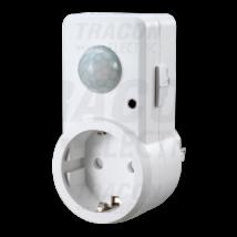 Tracon TMB-DA Infra mozgásérzékelő dugaljba dugható 180° fehér csatlakozóaljzattal