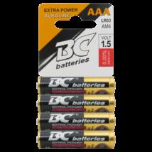 BC ALKÁLI  AKKUMULÁTOR -TARTÓS AAA ELEM BC LR3 / 4P EXTRA POWER