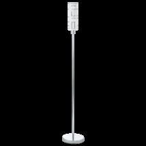 Eglo állólámpa E27 1x60W fehér/króm Bayman 92565