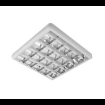 LED armatúra dupla parabola tükrös 4x10W falon kívüli LED fénycsővel 4000k (természetes fehér)  / 4x18W - fénycsöves kiváltására/
