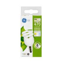 GE/Tungsram energiatakarékos spirál kompakt fénycső E14 8W 2700K meleg fehér 470 lumen