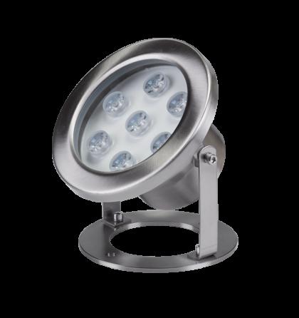Vízalatti 7X1W LED megvilágítás 4000K 12 V AC lámpatest IP68 Underwater Led