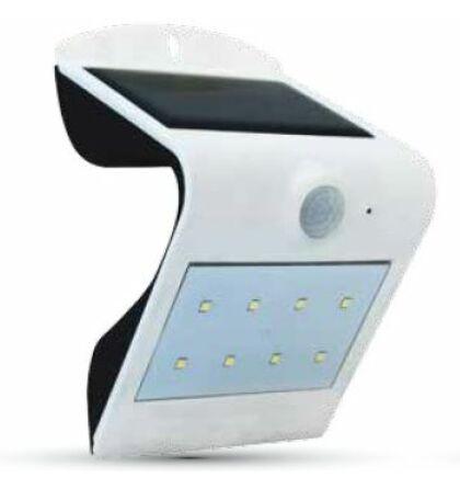 V-TAC napelemes mozgásérzékelős LED fali lámpa dupla ledsorral-elől hátul megvilágítva 1,5W teljesítmény