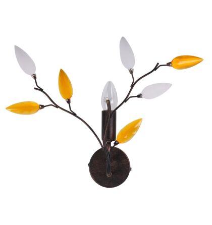 Lilian fali lámpa antik barna Rábalux 2850