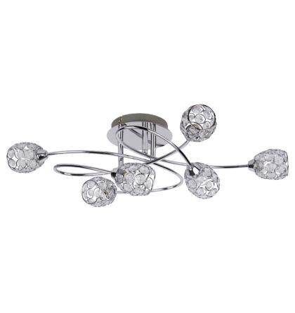 Elle 6 ágú mennyezeti lámpa króm Rábalux 6110