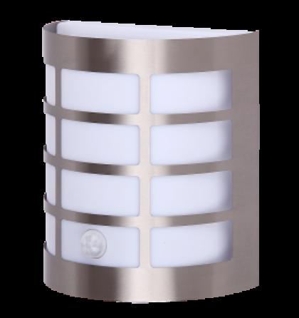 Sevilla kültéri fali lámpa mozgásérzékelővel 11W rozsdamentes acél Rábalux 8200