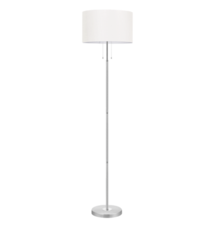 Eglo állólámpa E27 3x60W+1x100W alu/króm/fehér Halva 88566