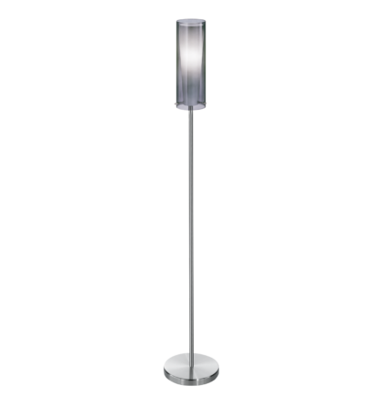 Eglo állólámpa E27 1x60W matt nikkel/füstüveg Pinto Nero 90309