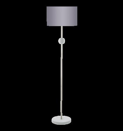 Eglo állólámpa E27 1x60W matt nikkel/szürke Positano 94346
