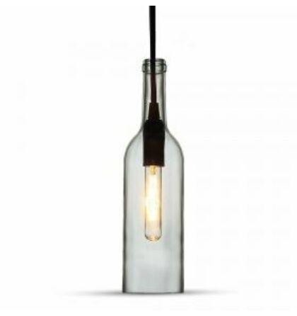 V-TAC VINTAGE modern E14 foglalatú Palack üveg csillár - Függeszték