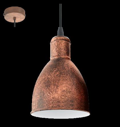 Eglo Priddy mennyezeti vintage lámpatest   49492