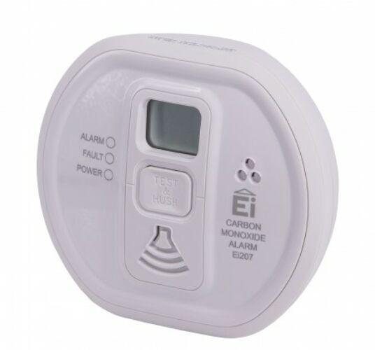 Szén-monoxid érzékelő LCD kijelzős, elemes Ei207D Steck NFH pozitív listás termék 5 Év Garancia