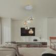 Jezabel modern letisztult mennyezeti lámpatest 3xE27 füst színű üveggel Rábalux 7976