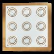 Naomi LED GU10X9 15W 3000K 400Lm 38x38 mennyezeti lámpa Rábalux 2254