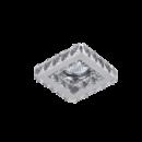 Kristály álmennyezetbe építhető modern halogén spot lámpatest Elmark 925773S/CL