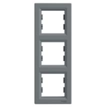 Asfora 3-as / hármas / keret függőleges acél Schneider EPH5810362