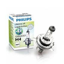 Philips Long Life Eco Vision autó izzó H4 12V 60/55W 4xélettartam 12342LLECOC1 (Utolsó darabok!)