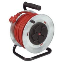 Düwi Műanyag kültéri kábeldob 25m vezetékkel 3x1 gumi kábel IP44 fém állvánnyal 4-es dugalj 19823