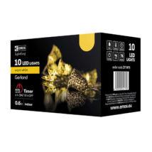 Emos klasszikus karácsonyi fényfüzér arany harang 10LED 1,35m meleg fehér IP20 ZY1970