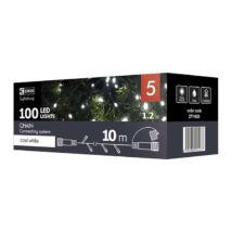 Emos CNT karácsonyi fényfüzér 100 LED 10m hideg fehér ZY1925