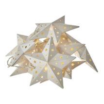 Emos karácsonyi fényfüzér időzítővel papír arany csillag 10LED meleg fehér ZY2077
