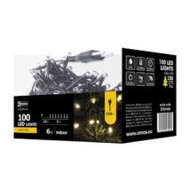 Emos klasszikus karácsonyi fényfüzér 100LED 6W 5m meleg fehér IP20 ZYK0105