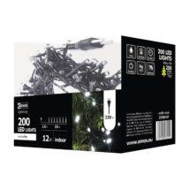Emos klasszikus karácsonyi fényfüzér 200LED 12W 10m hideg fehér IP20 ZYK0107