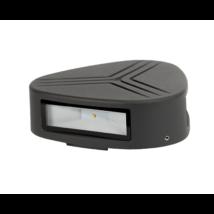 Kültéri LED 3X3W oldalfali lámpatest 4000-4300K szürke IP54 GRF9617W Elmark