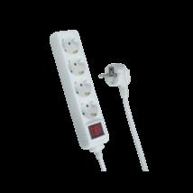 Trixline HK4 5m asztali hálózati hosszabbító elosztó kapcsolóval -4-es HK4 5m vezetékkel gyerekvédelemmel