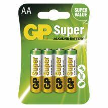 GP SUPER alkáli elem LR6 (AA) 4 db/ bliszter B1321