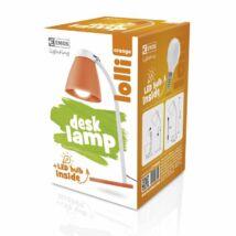 LOLLI LED íróasztali lámpatest 6W LED  500 Lm izzóval narancs EMOS