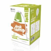 LOLLI LED íróasztali lámpatest 6W LED 500 Lm izzóval zöld EMOS