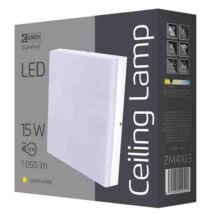 Emos LED mennyezeti lámpa 15W 3000K meleg fehér szögletes IP44 ZM4103