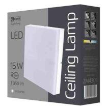 Emos LED mennyezeti lámpa 15W 4000K természetes fehér szögletes IP44 ZM4303