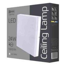 Emos LED mennyezeti lámpa 24W 4000K természetes fehér szögletes IP44 ZM4304