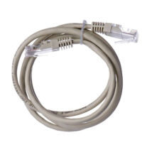 Emos szerelt UTP patch kábel 1m Cat5e szürke S9122