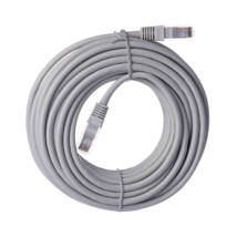 Emos szerelt UTP patch kábel 10m Cat5e szürke S9126