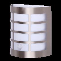 Sevilla kültéri fali lámpa mozgásérzékelővel 11W rozsdamentes acél IP44 Rábalux 8200