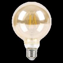 LED 6W 510 Lm Vintage filament G95 globe izzó E27 2700K 3 Év Garancia Rábalux 1658