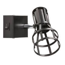 Aria Vintage fali spot lámpatest matt fekete E14 Rábalux 5958
