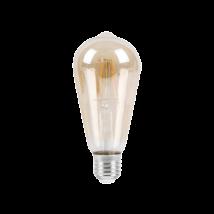 LED 6W 510 Lm filament füst borostyán A60  izzó E27 2700K 3 Év Garancia Rábalux 1659