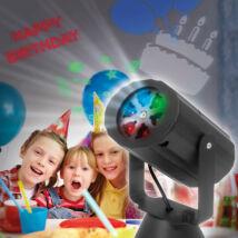 Elemes LED projektor születésnap, karácsony, halloween IP20 54909