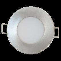 Greenlux BONO LED süllyesztett beépíthető spot lámpa kerek 5W 4000K természetes fehér 350 lumen matt króm IP65 GXLL025