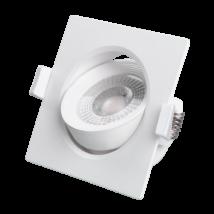 Greenlux JIMMY LED süllyesztett beépíthető spot lámpa szögletes billenthető 7W 4000K természetes fehér 500 lumen GXLL034