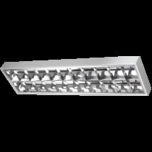 Greenlux 2x18W Dupla parabolatükrös 120cm LED fénycsőre előkészített armatúra lámpatest ORI LED GXRP040