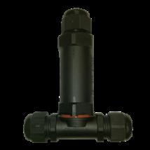 LED fényvető reflektorhoz kiegészítő kültéri vízzáró csatlakozó PA66IP68 5x2.5 CSJ Greenlux GXSP005